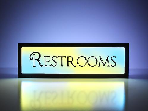 Vintage Restrooms Sign