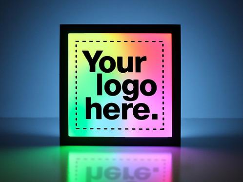 "Custom 15""x15"" Logo Sign - Standard Black"