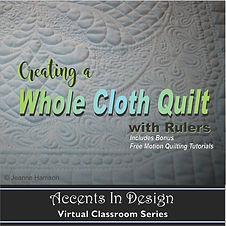 Whole Cloth Quilt with Rulers