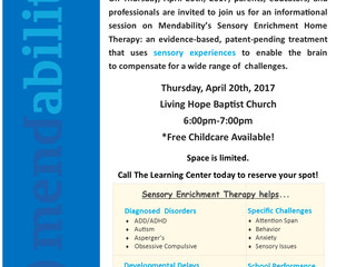 April 2017 Event - Sensory Enrichment Therapy Night