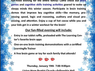 "January 2017: The Learning Center presents ""Winter Warm-Up!"""