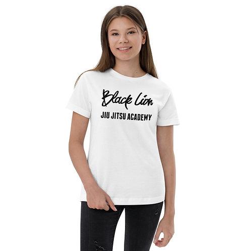 Black Lion Jiu Jitsu Youth Logo jersey t-shirt