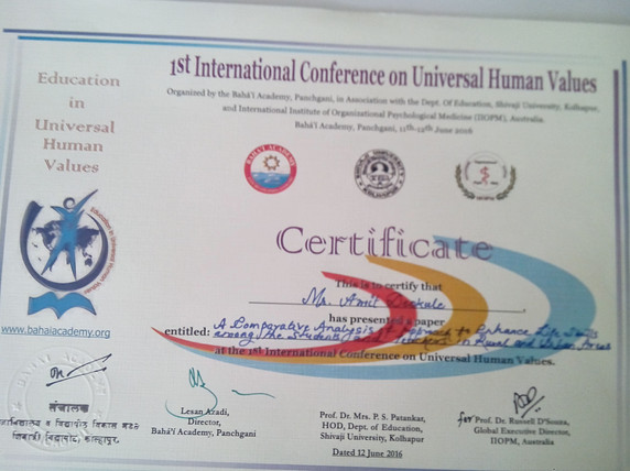 Awards and Achievements - International Conference on Universal Human Values.jpg