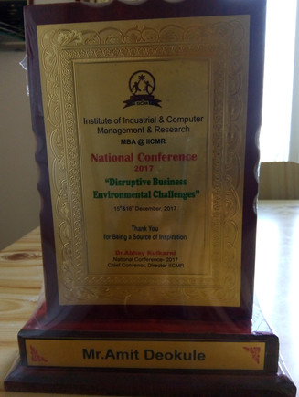 Awards and Achievements - For judging National Conference on Disruptive Business Environmental Challenges.jpg