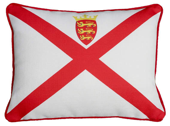 Jersey (LUX) Flag Cushion - Cover Only
