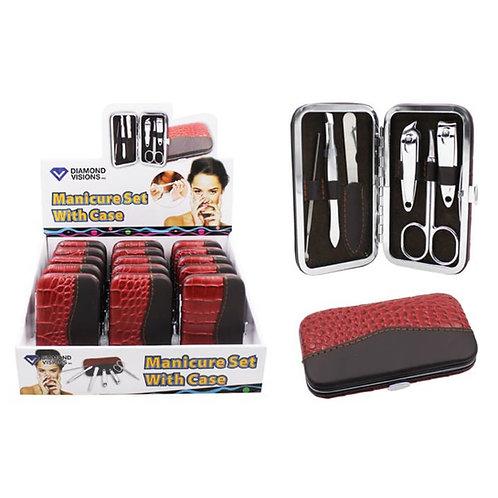 Women's Red/Black Manicure Set