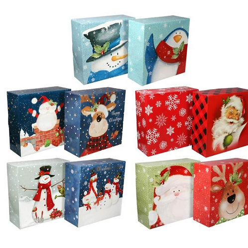 Christmas Printed Square Gift Boxes