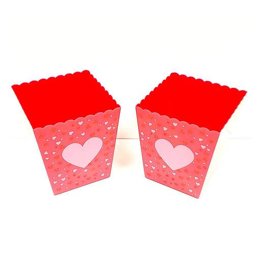 Plastic Red Heart Bucket