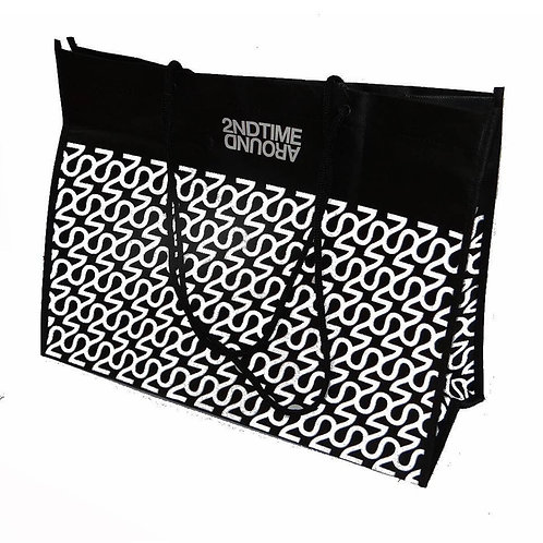 "Reuseable Shopper Bag – ""Second Time Around"" Heavy Duty Medium Tote Bag"