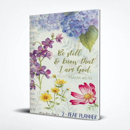 Be Still And Know That I Am God, Garden, 2021-22 2 Year Pocket Planner