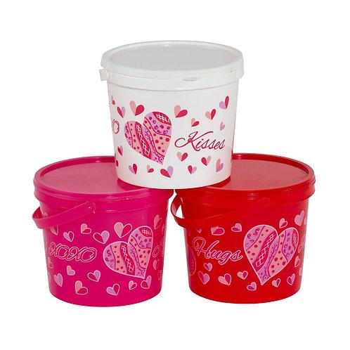 Valentine Gift Bucket w/Lid