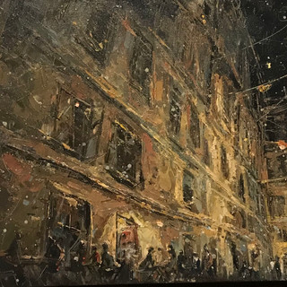 Night in Vienna 40 cx 60 cm 2009 oil on jute