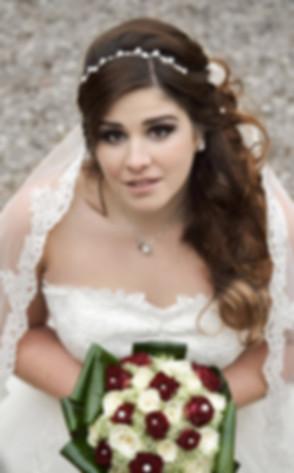 Photographie de mariage, portrait de la fiancée.