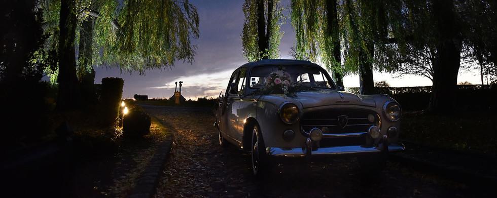 Wedding car by night
