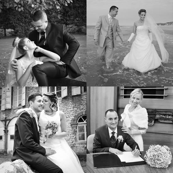 Exemples photo de mariage en noir et blanc
