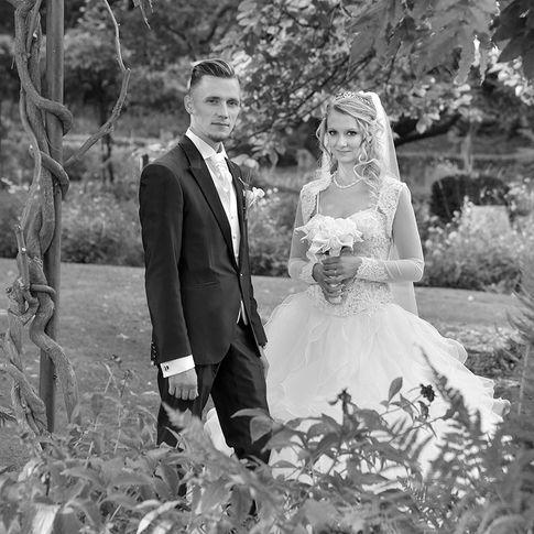 Photos du couple lors d'un mariage