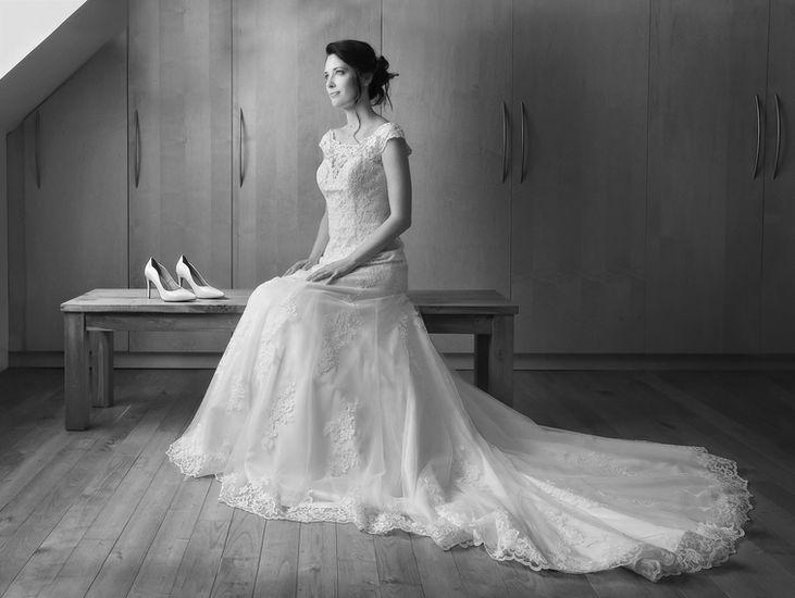 Mariée durant les préparatifs