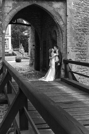 Photographe mariage : image en noir et blanc