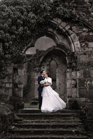 Reportage photo de mariage à l'abbaye d'Aulne