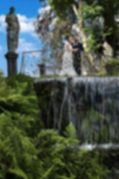 Shootin photo aux jardins d'annevoie avec jessica et riccardo