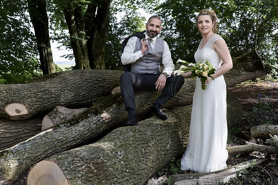Photo de mariage, Virginie et Pietro.