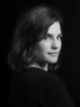 Portrait visage en noir et blanc