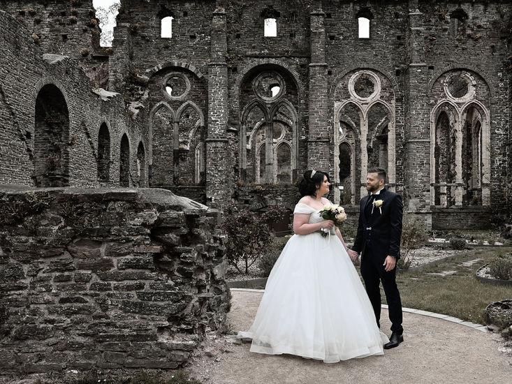 photo de mariage à l'Abbaye de Villers par Vincent Andreoli