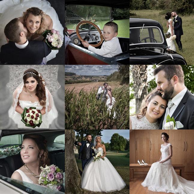 Pêle-mêle de photographies de mariage