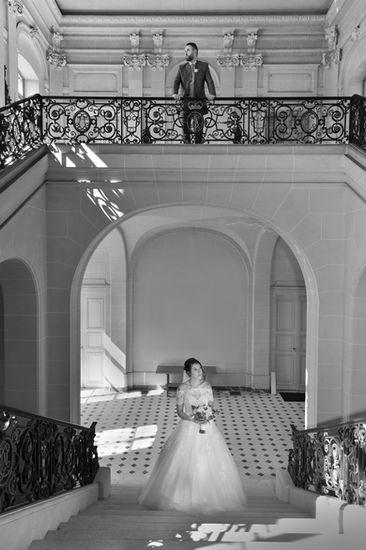 Photo de mariage au château de Belœil