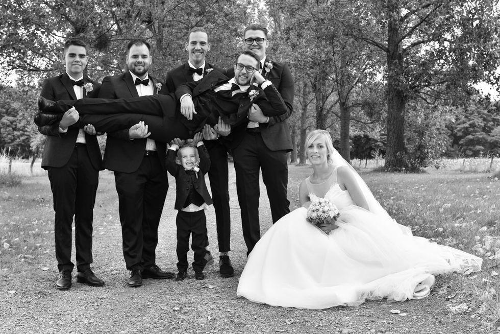 Mariage photo de groupe