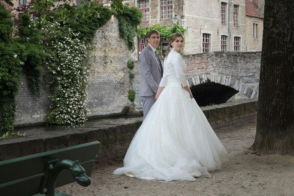 Shooting photo de mariage à Bruges