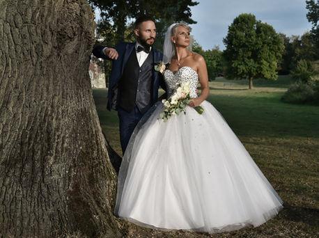 Photo de mariage parc de Monceau sur Sambre