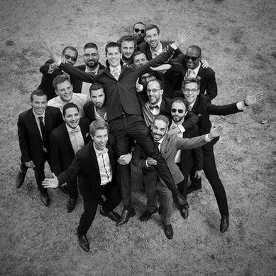 Mariage, photo de groupe.