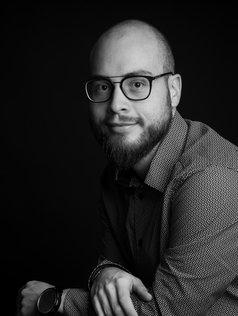 Julien portrait noir et blanc