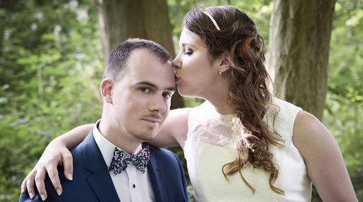 Portrait du couple de mariés