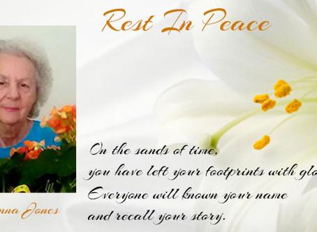 Rest In Peace: Mrs. Joanna Jones