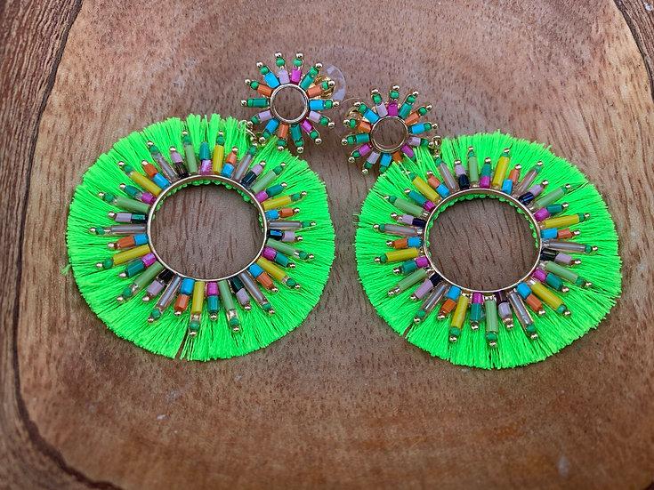 Kai Earring Neon Green