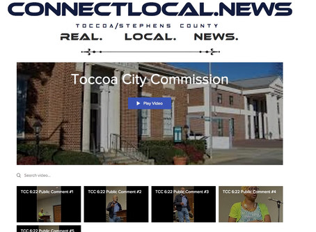Video Clips: Toccoa City Commission Meeting 6/22 - Public Comments