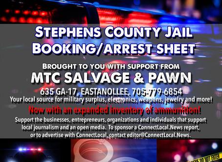 SC Jail Booking Sheet: June 29 - July 5