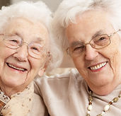 Two Senior Women Friends At Day Care Cen