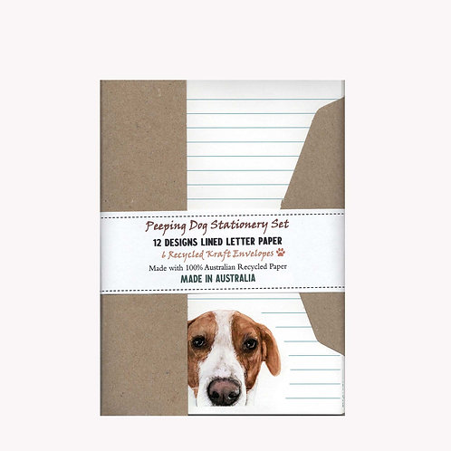 Peeping Dogs Australian Made Letter Writing Set with Envelopes