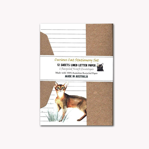 Curious Cats Letter Writing Stationery Set with Envelopes