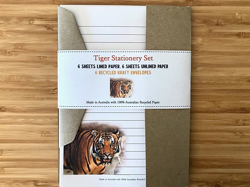 Tiger Australian Made Eco Letter Writing Set with Envelopes