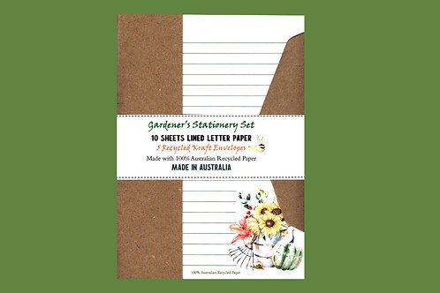 Gardeners Letter Writing Stationery Set with Envelopes