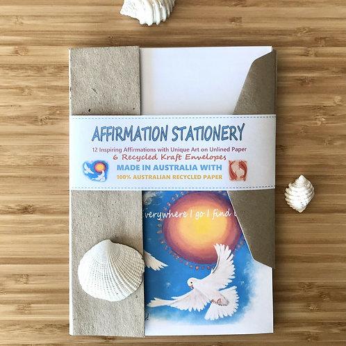 Affirmation Australian Made Letter Writing Set with Envelopes