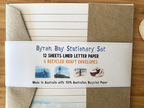 Byron Bay Australian Made Eco Letter Writing Set with Envelopes