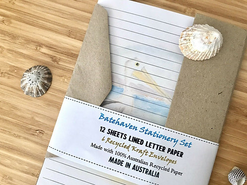 Batehaven Australian Made Eco Letter Writing Set with Envelopes