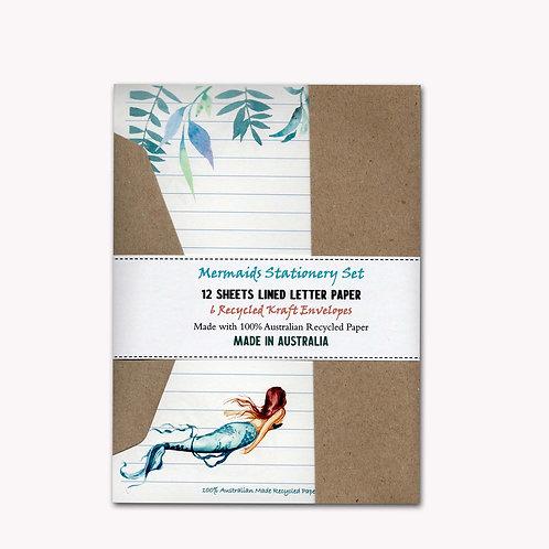 Australian Made Mermaids Letter Writing Set with Envelopes