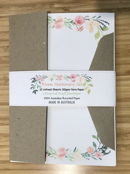 Bloom Australian Made Eco Letter Writing Set with Envelopes