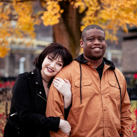 Dante + Jasmine's Chilly November Engagement | Pittsburgh, PA